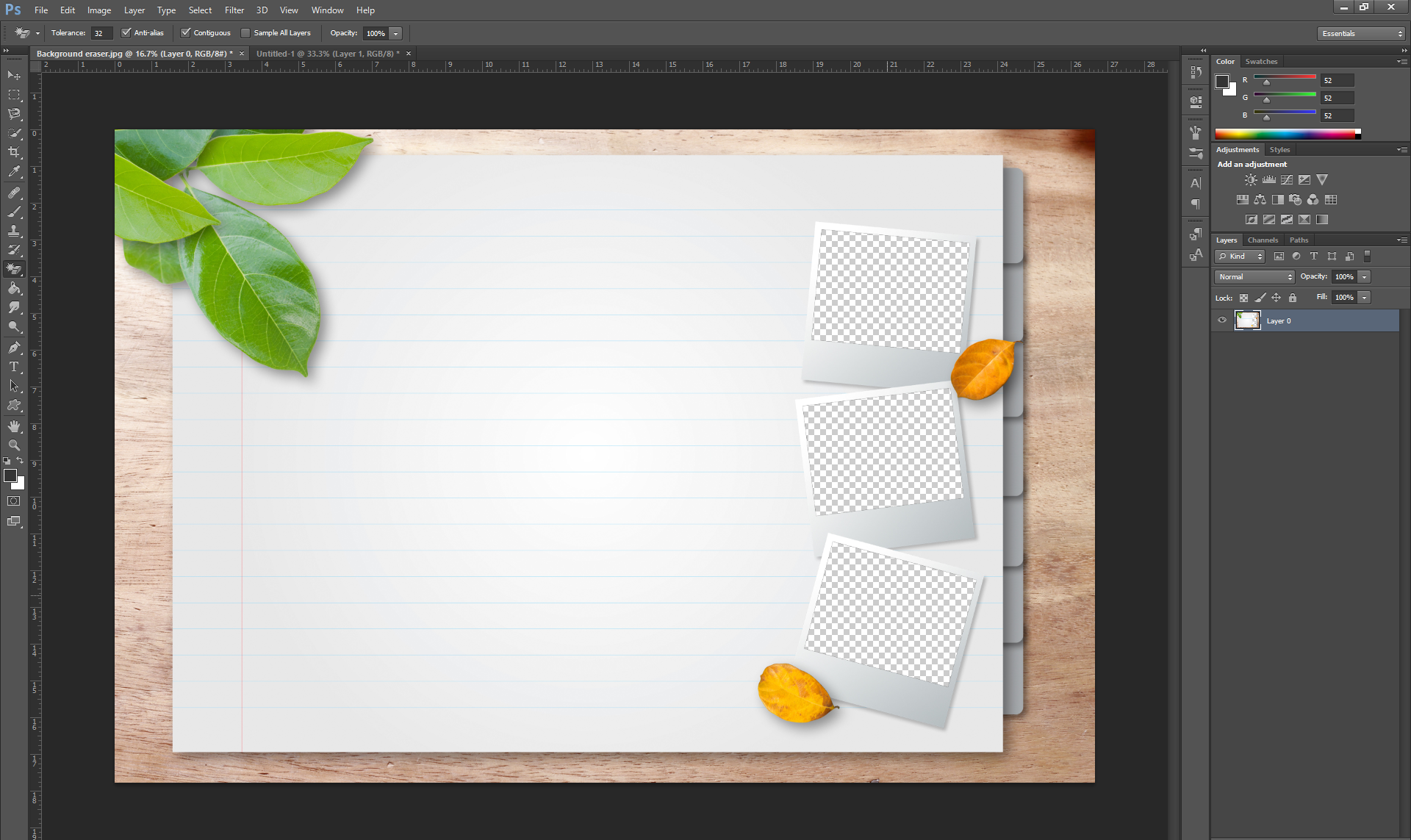 How to: creating frames and backgrounds with Photoshop – AquaSoft